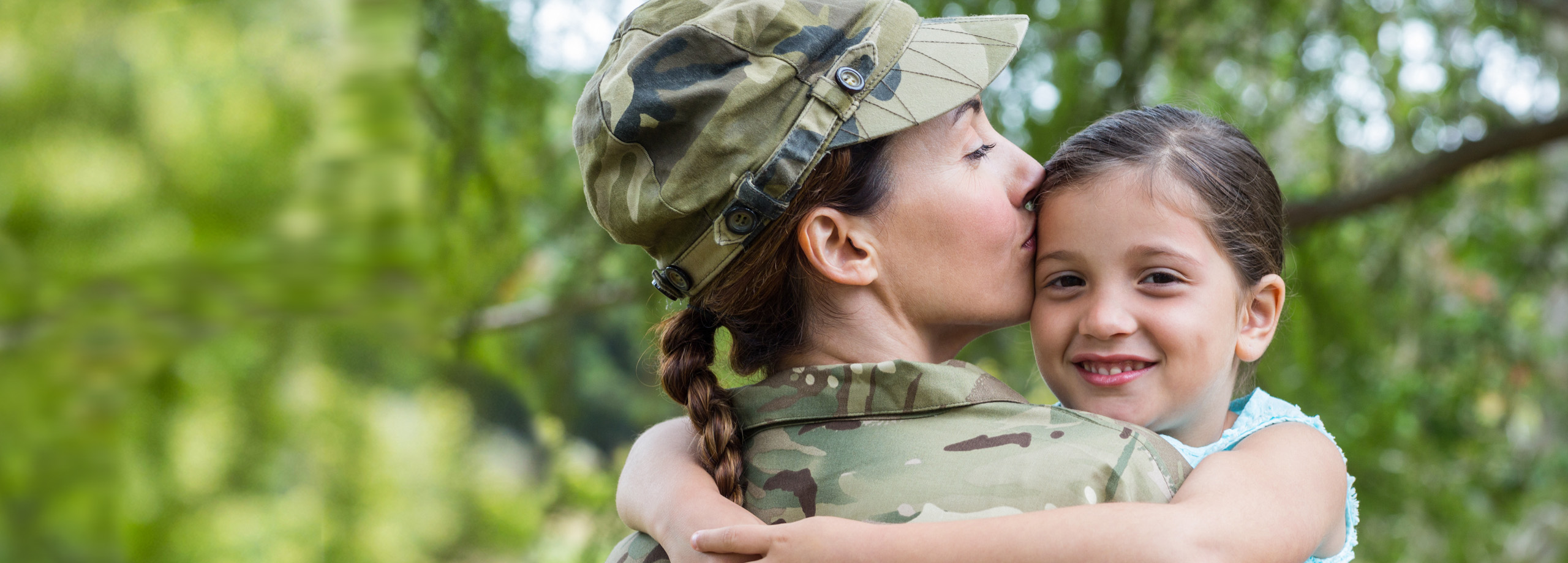 Veteran mom with young child